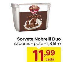 Oferta de Sorvete Nobrelli Duo sabores - pote por R$11,99