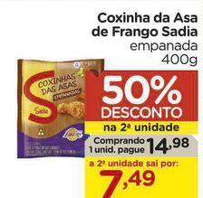 Oferta de Coxina de asa de frango Sadia por R$14,98
