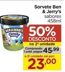 Oferta de Sorvete Ben & Jerry's sabores  por R$45,99
