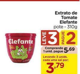 Oferta de Extrato de Tomate Elefante por R$5,69