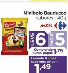 Oferta de Minibolo Bauducco por R$1,79