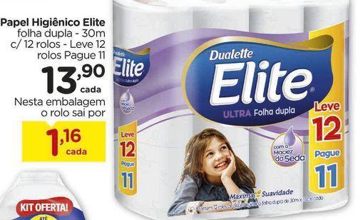 Oferta de Papel Higiênico Elite por R$13,9