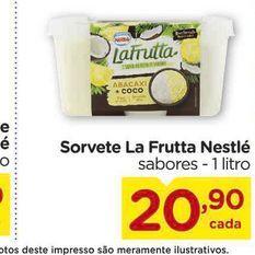 Oferta de Sorvete La Frutta Nestlé sabores - 1 litro por R$20,9