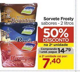 Oferta de Sorvete frosty por R$14,79