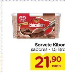 Oferta de Sorvete Kibon sabores - 1,5 litro por R$21,9