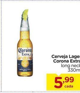Oferta de Cerveja Lager Corona Extra long neck 330ml por R$5,99