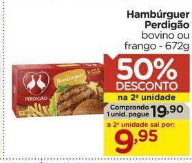 Oferta de Hambúrguer Perdigão por R$19,9