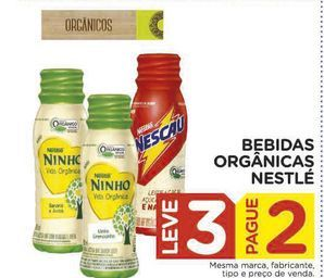 Oferta de Bebidas Orgânicas Nestlé por