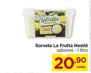 Oferta de Sorvete La Frutta Nestlé 1 litro por R$20,9