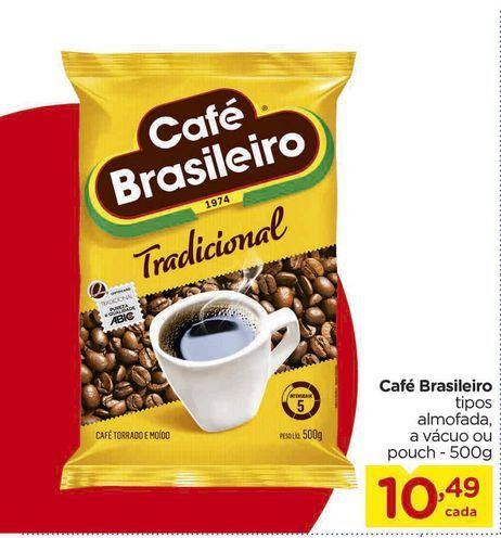 Oferta de Café Brasileiro 500g por R$10,49