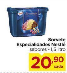 Oferta de Sorvete Especialidades Nestle 1,5 litro por R$20,9