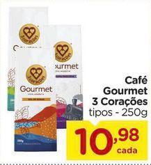 Oferta de Café Gourmet 3 Corações 250g por R$10,98