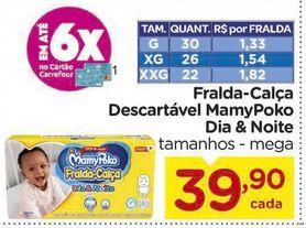 Oferta de Fralda Calça Descartável MamyPoko Dia & Noite por R$39,9