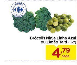 Oferta de Brócolis Ninja Linha Azul ou Limão Taiti - 1kg por R$4,79