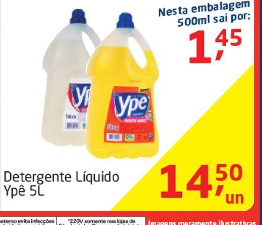 Oferta de Detergente Liquido Ypê 5 L  por R$14,5