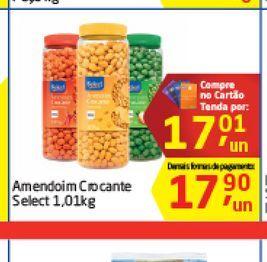 Oferta de Amendoim Crocante Select 1,01 kg  por R$17,01