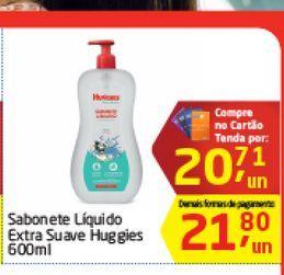 Oferta de Sabonete Liquido Extra Suave Huggies 600 ml  por R$20,71