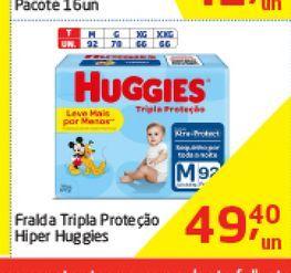 Oferta de Fralda Tripla Proteçao Hiper Huggies  por R$49,4