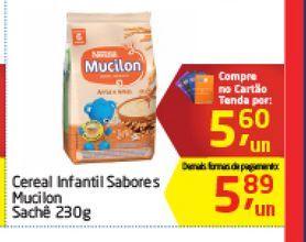 Oferta de Cereal Infantil Sabores Mucilon Sachê 230 g  por R$5,6