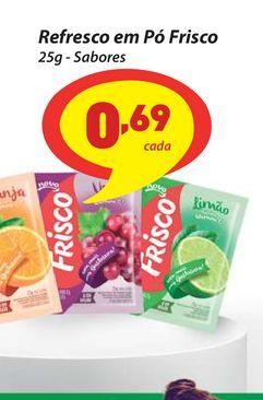 Oferta de Refresco em Pó Frisco 25g - Sabores por R$0,69