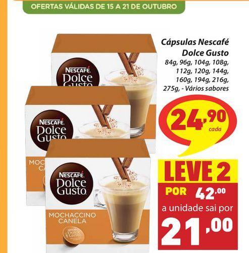 Oferta de Cápsulas Nescafé Dolce Gusto por R$24,9