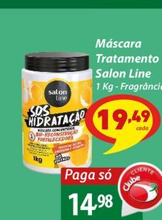 Oferta de Máscara Tratamento Salon Line por R$14,98