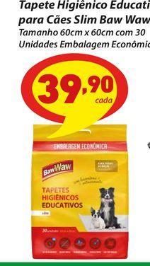 Oferta de Tapete Higiênico Educativo para Cães Slim Baw Waw por R$39,9