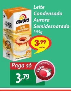Oferta de Leite Condensado Aurora Semidesnatado 395g por R$3,79
