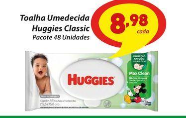Oferta de Toalha Umedecida Huggies Classic por R$8,98