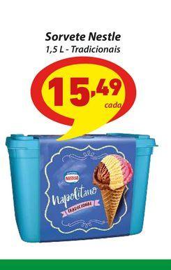 Oferta de Sorvete Nestle 1,5 L - Tradicionais por R$15,49