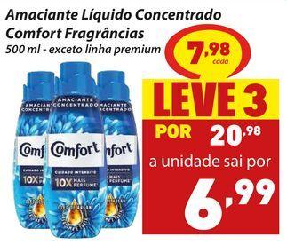 Oferta de Amaciante Líquido Concentrado Comfort Fragrâncias por R$7,98