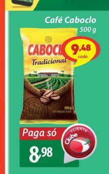 Oferta de Café Caboclo 500g por R$8,98