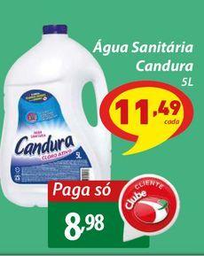 Oferta de Água Sanitária Candura por R$8,98