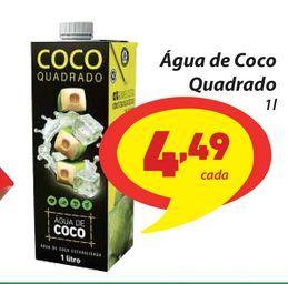 Oferta de Água de Coco Quadrado por R$4,49