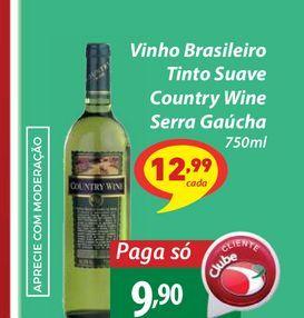 Oferta de Inho Brasileiro Tinto Suave Country Wine Serra Gaúcha 750ml por R$9,9