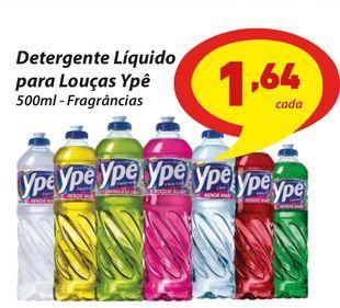 Oferta de Detergente Líquido para Louças Ypê por R$1,64