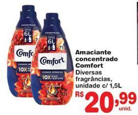 Oferta de Amaciante Comfort por R$20,99