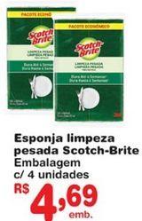 Oferta de Esponja de limpeza Scotch Brite por R$4,69