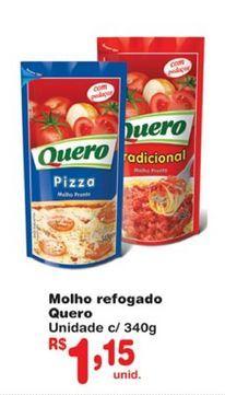 Oferta de Molho de tomate Quero por R$1,15
