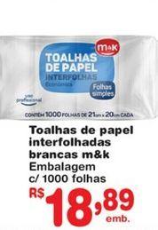 Oferta de Toalhas umedecidas M&K por R$18,89
