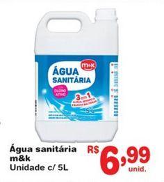 Oferta de Água sanitária M&K por R$6,99