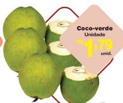 Oferta de Coco verde bahia unidade por R$1,79