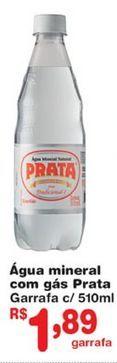 Oferta de Água com gás Prata por R$1,89