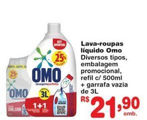 Oferta de Detergente líquido Omo por R$21,9
