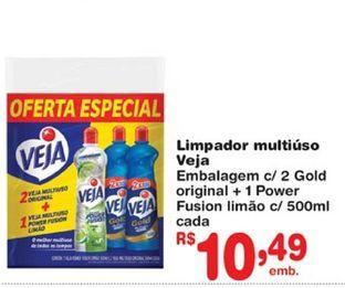 Oferta de Limpadores Veja por R$10,49