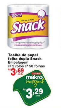 Oferta de Papel toalha Snack por R$3,29
