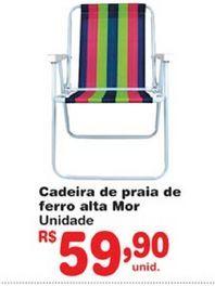 Oferta de Cadeira de praia por R$59,9