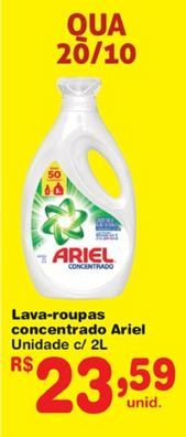 Oferta de Detergente líquido Ariel por R$23,59