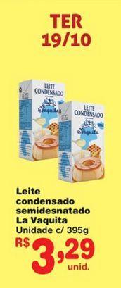 Oferta de Leite condensado la vaquita 395 g por R$3,29