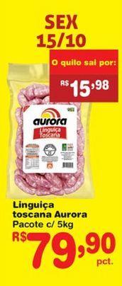 Oferta de Linguiça Aurora por R$79,9
